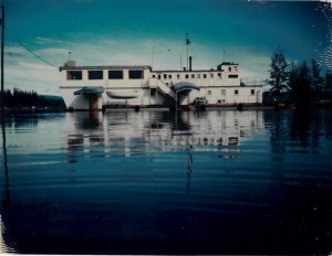 Boatel during flood
